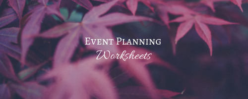 Event Planning Worksheets