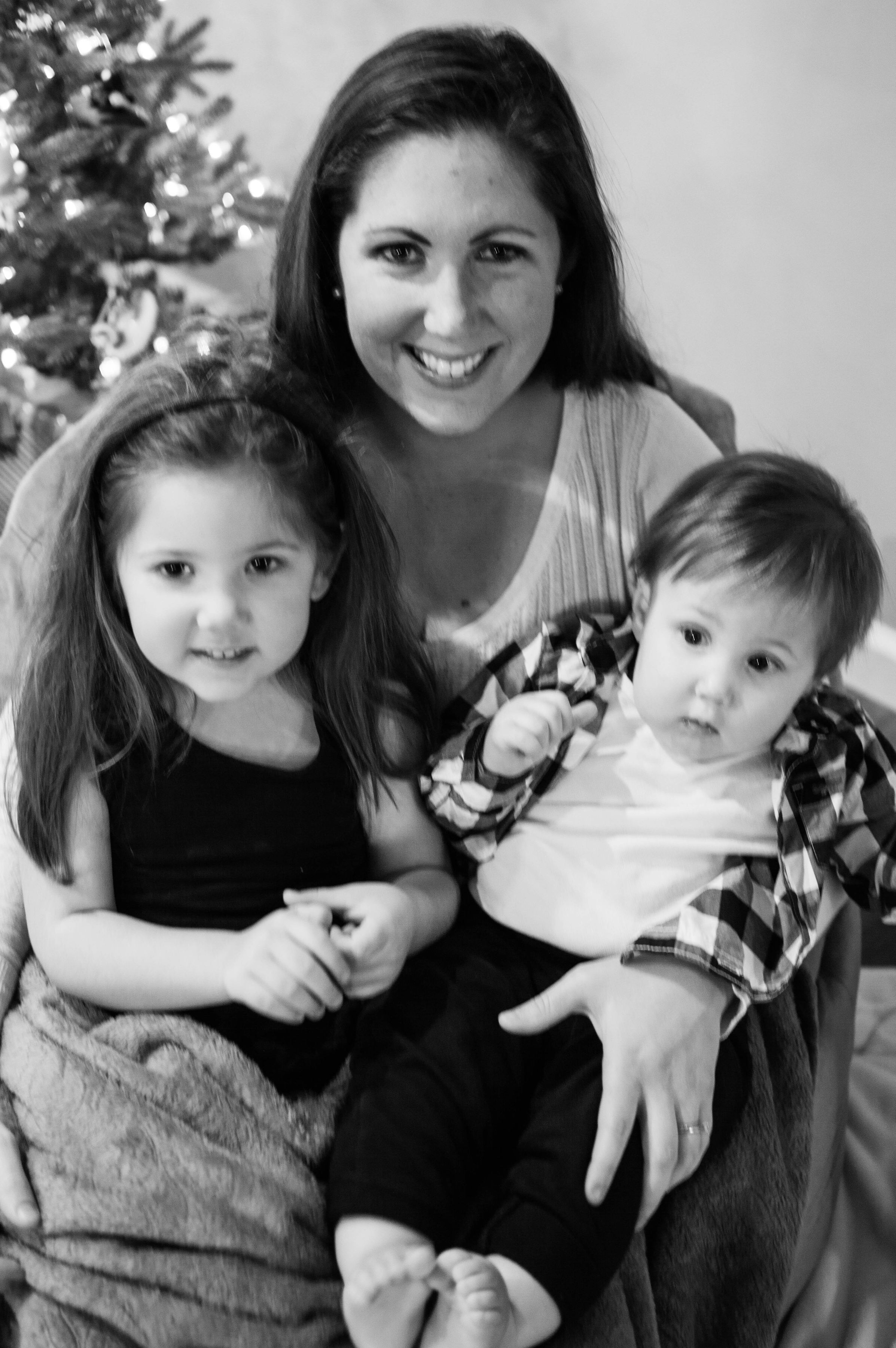 Kat Nielsen and family